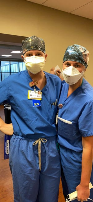 Woodmore grad Meghan Pirkl, right, is a registered nurse.