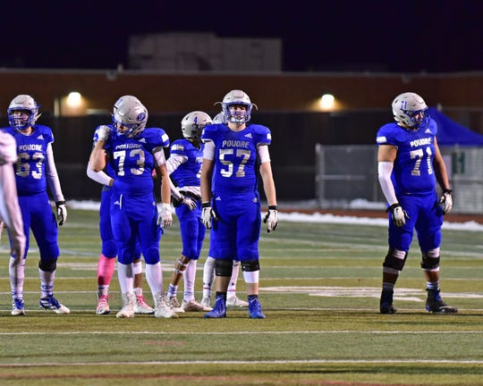Poudre football player Justin Michael (57) has verbally committed to the Colorado State football team.
