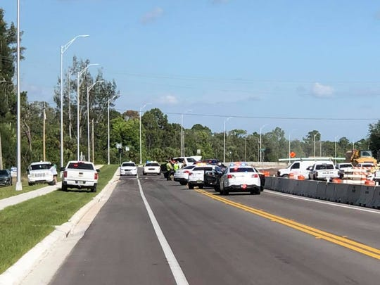 A traffic crash closed both lanes of State Road 82 in Lehigh Acres on Wednesday, May 6, 2020.