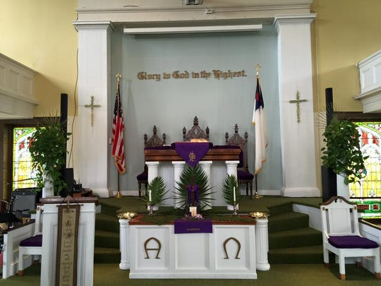 The interior of the Danby Community Church. The building is now 200 years old.