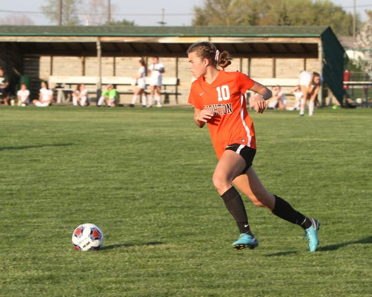 Mia Hansen started on defense for Brighton from the start of her freshman year.