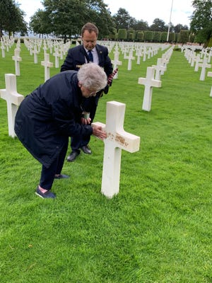 Gov. Kay Ivey visited Normandy American Cemetery in 2019.