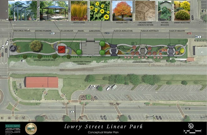 "This rendering shows Smyrna plans for a ""Zama Park"" southwest of the intersection for Lowry and Washington streets."