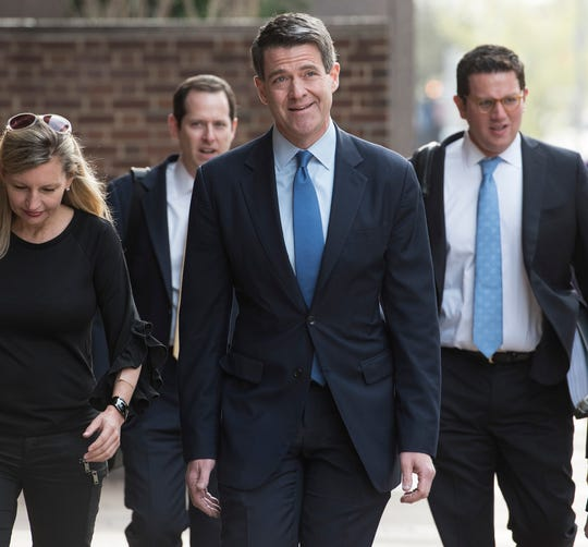 William Baroni on his way to the US Court of appeals in Philadelphia on Tuesday, April 24, 2018