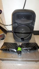 CBP officers seized this speaker box containing 2.4 pounds of methamphetamine at the Ysleta Port of Entry in El Paso.