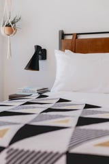 A guest room in the Tuxon Hotel in Tucson.