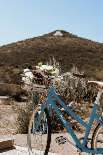 The Tuxon Hotel has a view of Sentinel Peak, also known as A Mountain in Tucson.