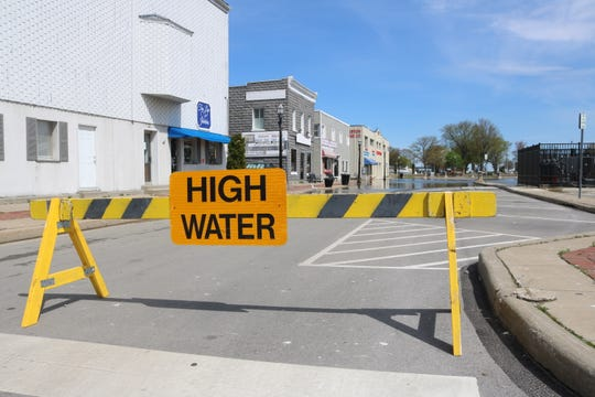 High water has again led to road closures on the north end of Madison Street in downtown Port Clinton.