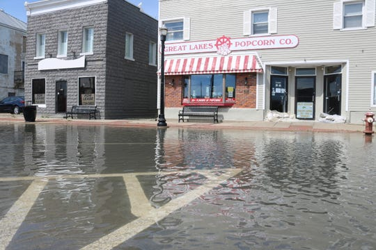 High water has plagued downtown businesses at the north end of Port Clinton, even during weeks without heavy rain this May.