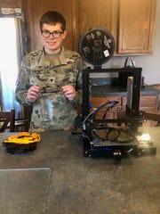 While in quarantine, 21-year-old Shippensburg University ROTC Cadet Will Lamont saw that suppliers weren't meeting the demand for PPE in hospitals and other medical facilities. So, he decided to take his hobby of 3D printing and put it to use.