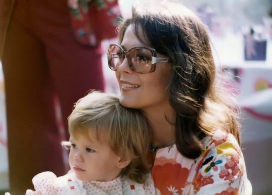 "Natalie Wood and her daughter Courtney Wagner in 1975. The photograph is featured in ""Natalie Wood: What Remains Behind."""