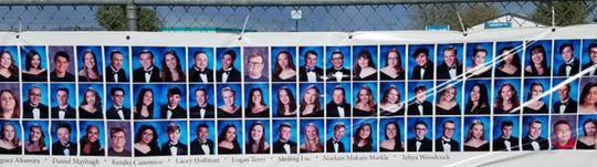Banners hanging throughout Fernley show the class of 2020.