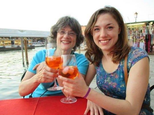 Michele Spring and daughter Danielle Pelcher visit Venice.