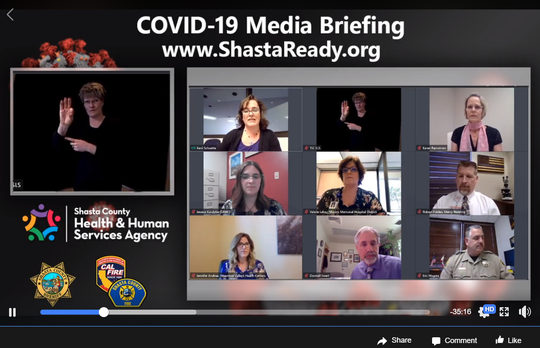 The Shasta County Health and Human Services Agency held its weekly media briefing on Wednesday, May 6, 2020, via Facebook.