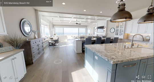The inside of a home on Mandalay Beach Road is shown in a 3D tour. Local real estate agents are increasingly using 3D tours and other virtual methods to show homes during the coronavirus outbreak.
