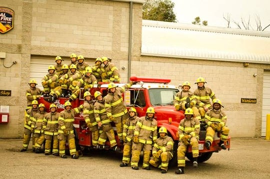 The first class of cadets took part in a firefighting training program outside Camarillo aimed at helping formerly incarcerated people find jobs.