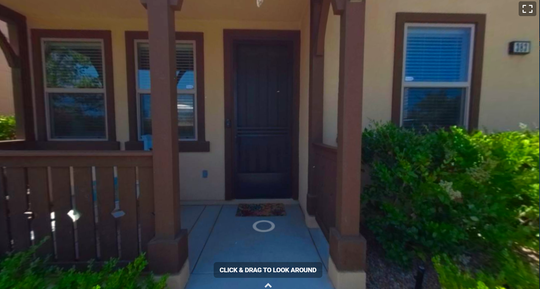 This is what a 3D tour of a home on Silktree Avenue in Ventura looks like. Potential buyers can click and drag their mouse to get a 360-degree view t or to feel as if they're walking through the house.