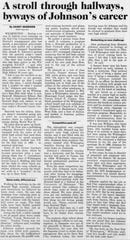 Joseph E. Johnson's career was detailed in The News Journal on July 9, 1990 when he retired from the Red Clay School District