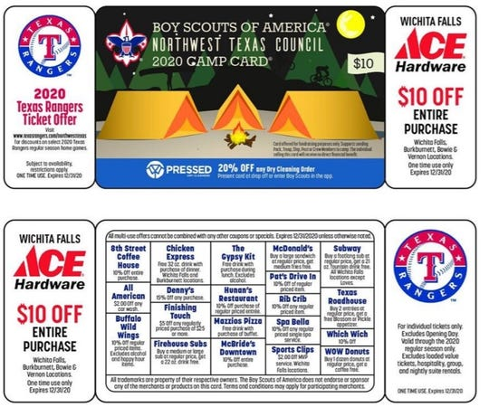 """Northwest Texas Boy Scouts of America Council is making """"camp cards"""" available for online purchase and no-contact delivery. Cards are $10 and help Scouts attend summer camps and supports other BSA programs."""