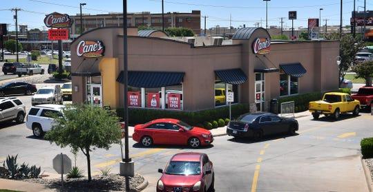 Raising Cane's Chicken Fingers restaurant on Kell Blvd in Wichita Falls.