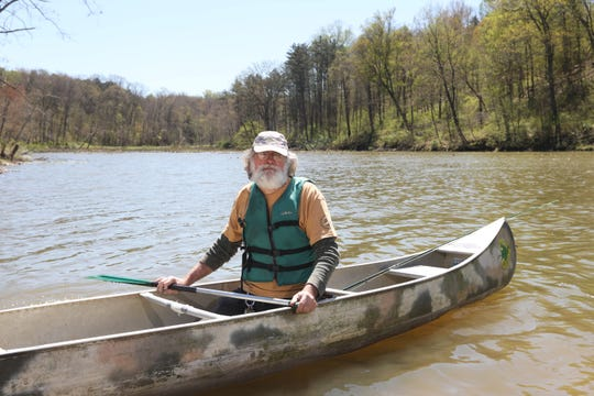 Al Parker of Canoe Creation on Culter Lake in Blue Rock State Park.