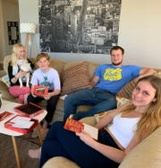 Melissa McCool at home with her three children.