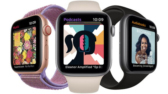 Listen to music, podcasts, audiobooks and more on your Apple Watch.