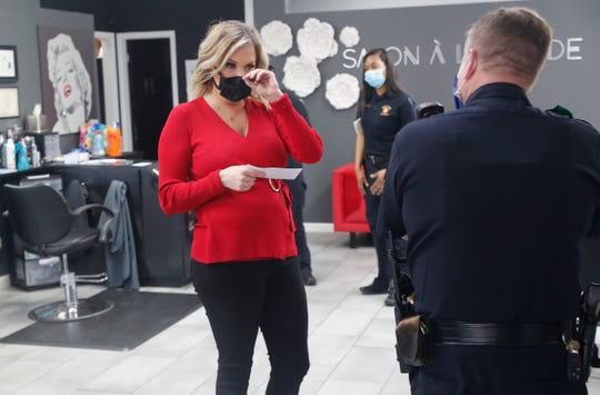 Shelley Luther was cited for reopening her Salon a la Mode in Dallas on April 24. Authorities asked her to close, but she refused.