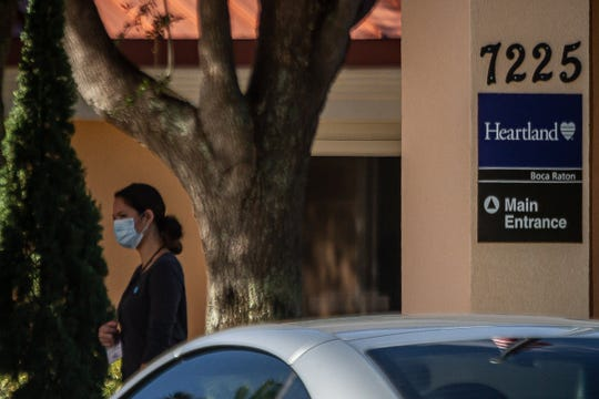 Heartland Health Care and Rehabilitation Center in Boca Raton, Fla. Photographed on Monday, May 4, 2020. The facility has had one COVID-19 death, according to the Florida Department of Health. [THOMAS CORDY/palmbeachpost.com]