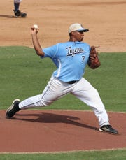 O'Shea Dumes helped Carroll clinch a bi-district playoff series with a one-hitter and a home run in 2011.