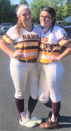 Gloucester Catholic's Madi Baldwin and Maddie Burnite became best friends during their days at the school and softball played a big part in their bond.