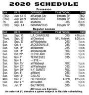 Bengals 2020 schedule