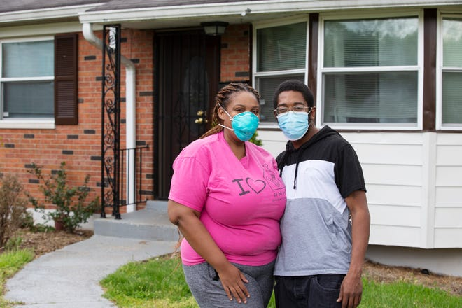 Latroya Goines and her husband Jesse Goines at their Westwood home .