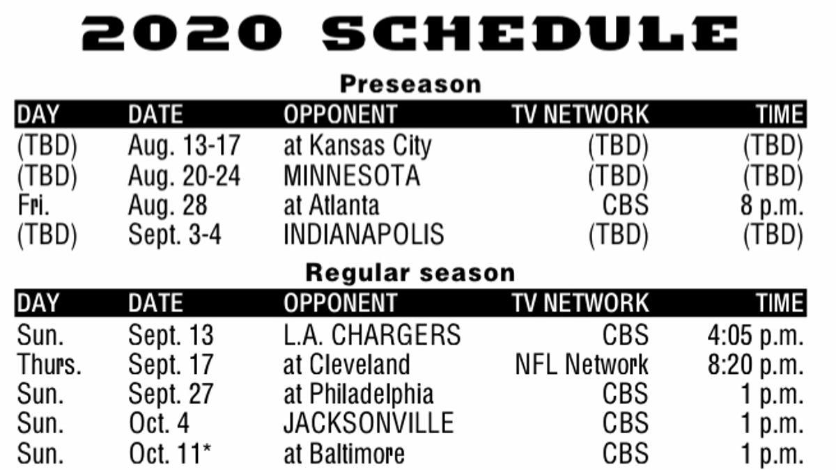 Nfl Schedule Release 2020 Cincinnati Bengals