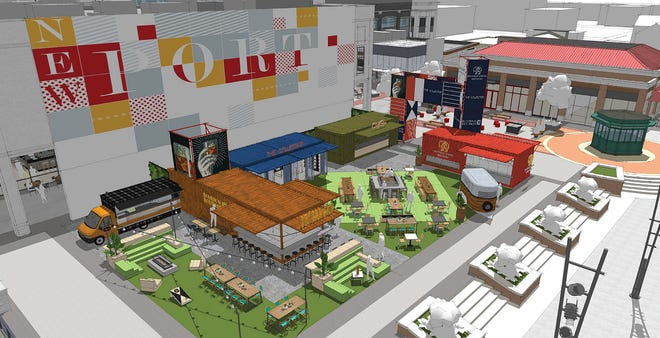 A new type ofopen-air dining and shopping area is coming soon toNewport on the Levee. North American Properties is creating Bridgeview Box Park, acolorful box park, which will feature six local restaurants and retailers and great views of the Ohio River.