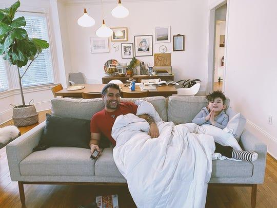 David Viana and his son, Cole.