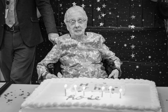 Rose Grzella was feted at a party hosted by CareOne on her 100th Birthday on Jan. 27, 2020.