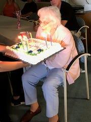 Antonia Leon celebrates her 94th birthday at Martina Place.