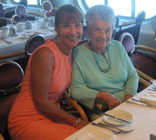 Susan Hiltz, of Macomb Township, and her mother Arlene Hiltz are photographed on a cruise to the Bahamas in 2016. Her mother passed away in 2018 but received a stimulus check in 2020.  Hiltz was trying to figure out how to return the money.