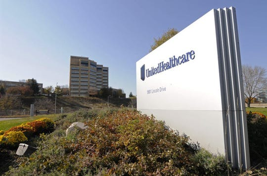 UnitedHealth Group Inc.'s campus is shown in Minnetonka, Minnesota. The nation's largest insurer, said it will rebate premiums to some commercial customers and waive cost-sharing for Medicare members as part of a $1.5 billion pandemic assistance program.
