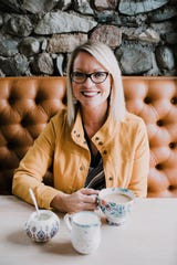 "Sarah Macklem of The Yellow Cape Cod (theyellowcapecod.com) has been blogging about interior design since 2008 and offers online design services. She calls her style ""updated traditional."""