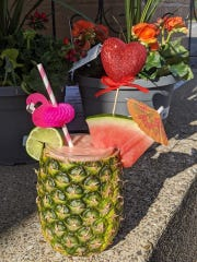 Los Alfaro's Latin Restaurant is now offering virgin  piña coladas and frozen margaritas. The drinks are made with fresh fruit and juice blended with ice to order.