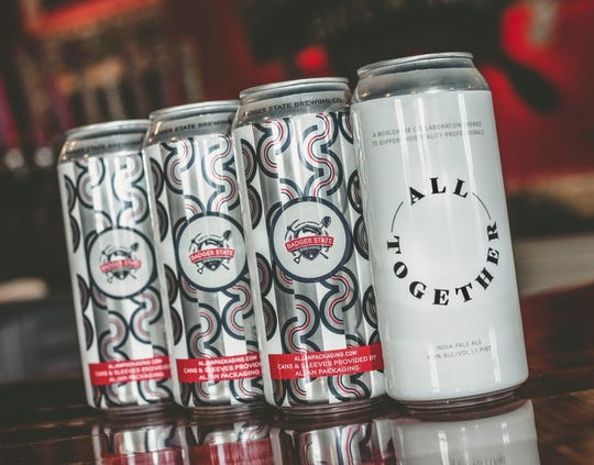 Green Bay craft breweries Badger State Brewing and Noble Roots Brewing collaborated on a version of a new beer All Together IPA. Released May 7, proceeds from sales will go to a relief fund for Green Bay area hospitality businesses impacted by the coronavirus pandemic.