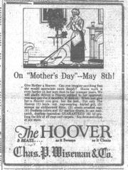 "The Chas. P. Wiseman department store was suggesting a more ""substantial"" and expensive gift for Mother's Day when this ad was placed in the Daily Eagle on May 5, 1921."