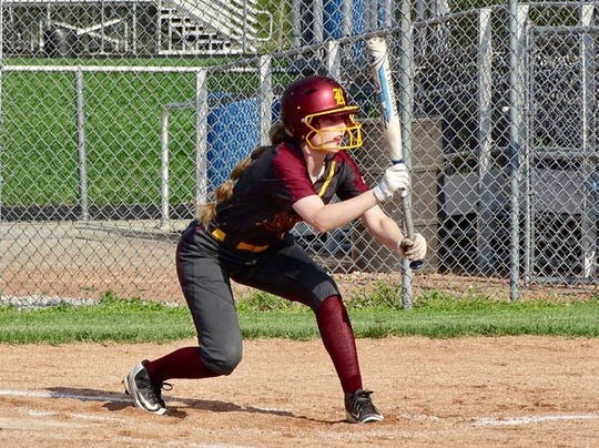 Berne Union's Macie Staten is one of three seniors on the Berne Union softball team, which has won five consecutive Mid-state League-Cardinal Division championships.
