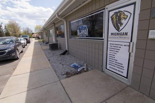 The Scorpion Fighting System at the Michigan Institute of Athletics is open Thursday, May 7, 2020 despite a stay-at-home order prohibiting businesses of this type from operating in Michigan.
