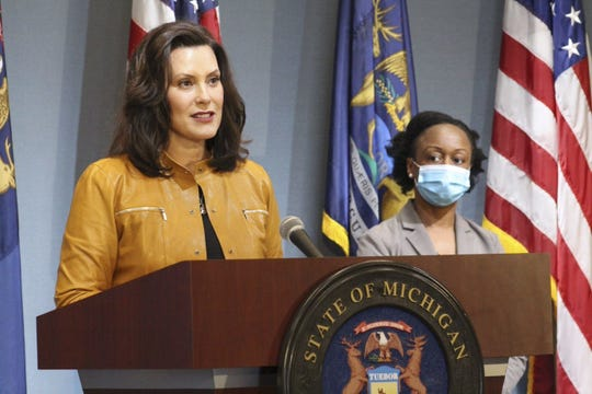 """Michigan Gov. Gretchen Whitmer talks about her """"MI Safe Start Plan"""" for weathering the rest of the COVID-19 pandemic"""
