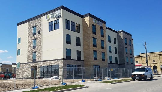 Construction is nearing completion on the Cobblestone Hotel & Suites in downtown Two Rivers.