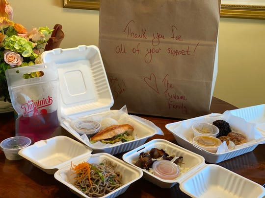 Take-out from Tsunami Restaurant in Cooper-Young.