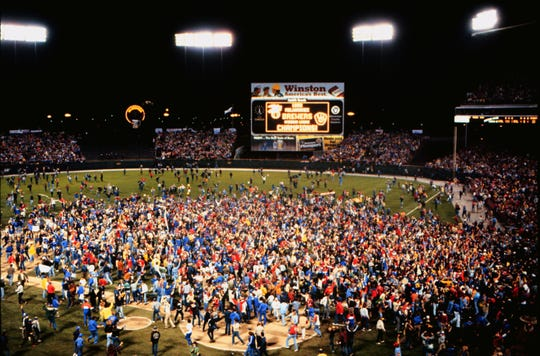 The stadium belonged to the fans in 1982 after the Milwaukee Brewers defeated the California Angels to win the American League pennant and a trip to the World Series.